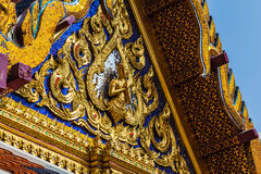 Wat Phra Kaew prydnad Arkivbild