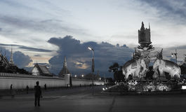 Wat Phra Kaew, punkt zwrotny Bangkok, Tajlandia Zdjęcia Stock