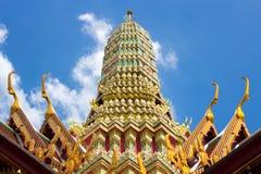 Wat Phra Kaew Roof Stockfotos