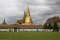 Wat Phra Kaew, the Royal Palace in Bangkok Stock Photos
