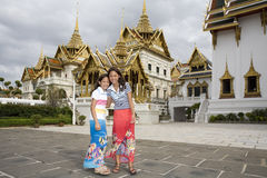 Wat Phra Kaew, the Royal Palace in Bangkok Royalty Free Stock Photos