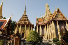 Wat Phra Kaew : The royal temple of Bangkok Stock Photos