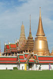 Wat Phra Kaew. The royal temple of Bangkok , Thailand royalty free stock photos