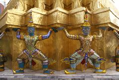 Wat Phra Kaew statues in Bangkok, Thailand, Asia Royalty Free Stock Photo