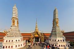 Wat Phra Kaew/storslagen slott, Bangkok, Thailand Arkivfoton
