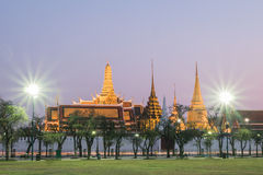 Wat Phra Kaew sunset Bangkok,Thailand Royalty Free Stock Photography