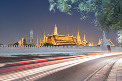Wat Phra Kaew sunset Bangkok,Thailand Stock Photo