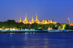 Wat phra kaew in sunset time Royalty Free Stock Photography