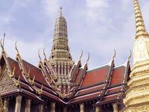 Wat Phra Kaew tempel av Emerald Buddha, Bangkok Fotografering för Bildbyråer