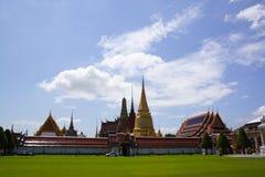 Wat Phra Kaew tempel av Emerald Buddha, Bangkok, Thailand royaltyfria foton