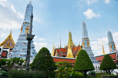 Wat Phra Kaew   Tempel av Emerald Buddha Phra Si Rattana Satsadaram Arkivbilder