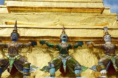 Wat Phra Kaew tempel av Emerald Buddha Phra Si Rattana Satsadaram Arkivfoto