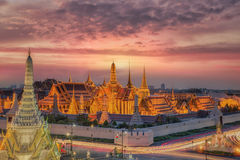 Wat Phra Kaew, Tempel des Smaragdbuddhas Lizenzfreie Stockbilder