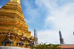 Wat Phra Kaew, Tempel Emerald Buddha Phra Si Rattanas Satsadaram Stockfotos