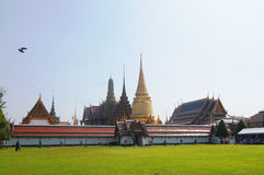 Wat Phra Kaew, Tempel Emerald Buddha Phra Si Rattanas Satsadaram Stockbild