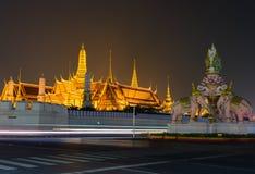Wat Phra Kaew, Tempel van Smaragdgroene Boedha Stock Afbeeldingen
