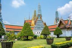 Wat Phra Kaew, tempio di Bangkok Tailandia Fotografia Stock