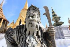Wat Phra Kaew, tempio di Emerald Buddha, Bangkok, Tailandia. Fotografia Stock Libera da Diritti