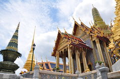 Wat Phra Kaew, tempio di Emerald Buddha, Bangkok, Tailandia Fotografia Stock Libera da Diritti