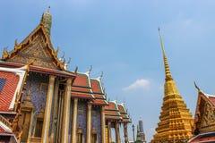 Wat Phra Kaew, tempio di Emerald Buddha, Tailandia Immagini Stock