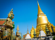 Wat Phra kaew Temple in Bangkok of Thailand Royalty Free Stock Photos