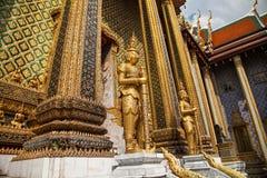 Wat Phra Kaew Temple bij Groot Paleis, Bangkok Royalty-vrije Stock Afbeeldingen
