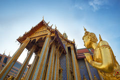 Wat Phra Kaew temple building in Bangkok Royalty Free Stock Images
