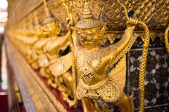 Wat phra kaew temple of the emerald buddha in bangkok royalty free stock photos