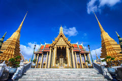 Wat Phra Kaew, Temple of the Emerald Buddha, Bangkok. Thailand stock photos