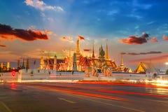 Wat Phra Kaew - the Temple of Emerald Buddha in Bangkok Stock Image