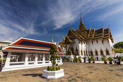 Wat Phra Kaew,  Temple of the Emerald Buddha. Bangkok. Royalty Free Stock Photos