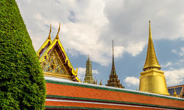 Wat Phra Kaew. Temple of the Emerald Buddha, Bangkok, Thailand Royalty Free Stock Photos