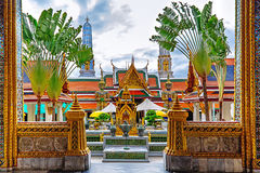 Wat Phra Kaew, Temple of the Emerald Buddha, Bangkok, Thailand Stock Images