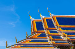 Wat Phra Kaew, Temple of the Emerald Buddha, Bangkok, Thailand. Royalty Free Stock Photo