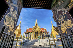 Wat Phra Kaew, Temple of the Emerald Buddha with blue sky Royalty Free Stock Photography