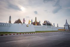 Wat Phra Kaew or Temple of the Emerald Buddha. stock images