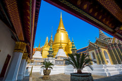 Wat Phra Kaew. Temple of the Emerald Buddha, full official name Wat Phra Si Rattana Satsadaram  is regarded as the most sacred Buddhist temple in Thailand Stock Photography