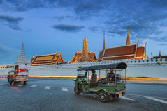 Wat Phra Kaew, Temple of Emerald Buddha or Grand Palace, Bangkok, Thailand. Wat Phra Kaew is regarded as the most sacred Buddhist temple in Thailand. The Emerald stock images