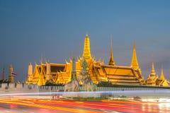 Wat Phra Kaew, Temple of the Emerald Buddha,Grand palace at twil Stock Image