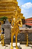 Wat Phra Kaew or Temple of Emerald Buddha, Guardian statues and Grand palace located within the grounds of the Grand Palace in Ban stock photo