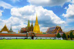 Wat Phra Kaew, Temple of the Emerald Buddha, with nice blue sky Stock Photo