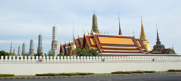 Wat Phra Kaew or Temple of the Emerald Buddha. Outside view of Wat Phra Kaew or Temple of the Emerald Buddha stock image