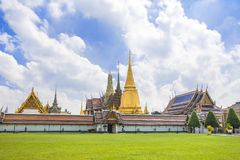Wat Phra Kaew or the Temple of the Emerald Buddha, Thailand. royalty free stock images