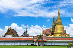 Wat Phra Kaew or the Temple of Thailand in bangkok Royalty Free Stock Photo