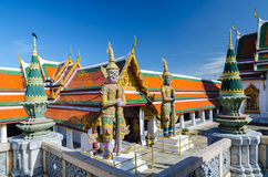 Wat Phra Kaew, templo de Emerald Buddha, Banguecoque, Tailândia. Foto de Stock Royalty Free