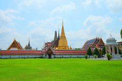 Wat Phra Kaew, the Thai royal grand palace royalty free stock image