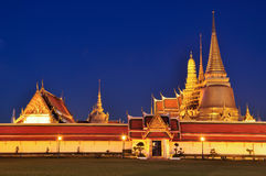 Wat Phra Kaew at twilight Stock Image