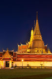 Wat Phra Kaew at twilight Stock Photography
