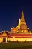 Wat Phra Kaew at twilight Stock Photography