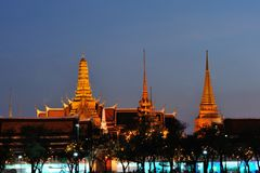 Wat phra kaew at twilight. Stock Photo